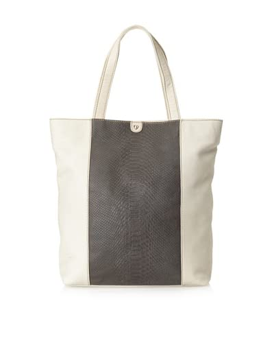 Charlotte Ronson Women's Mixed Exotic Tote  - Grey