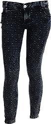 EBONY Women's Slim Jeans (372_28, Grey, 28)