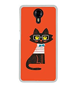 Cute Cat Clipart 2D Hard Polycarbonate Designer Back Case Cover for Micromax Canvas Xpress 2 E313