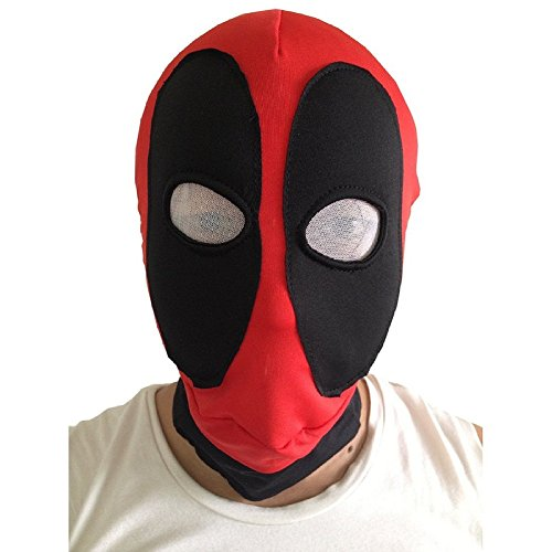 Koveinc Halloween Costume Wear Lycra Mask Red/Black Adult sizes