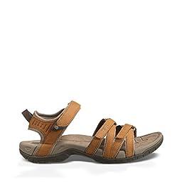 Teva Women\'s Tirra Leather Sandal,Rust,7 M US