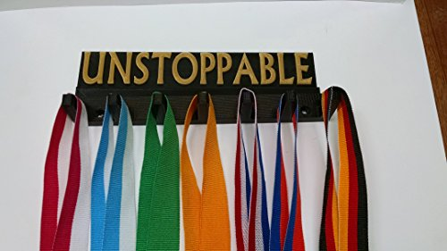 plastic-8-unstoppable-marathon-all-sports-medal-rack-medal-hanger-medal-organizer-medal-display-blac