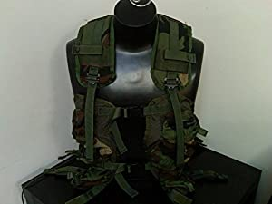 US Military Enhanced Load Bearing Tactical Vest, Woodland Camo