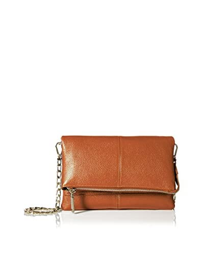 Zenith Women's Small Flap Cross-Body with Chain Strap, Cognac As You See