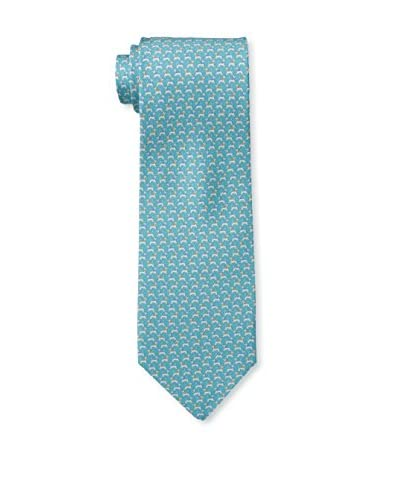 Salvatore Ferragamo Men's Sam Tie, Turchese