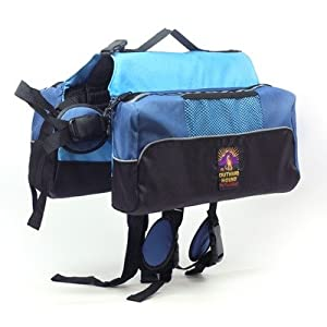 Outward Hound Quick Release Dog BackPack, X-Large, Blue