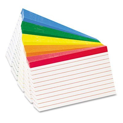 Color Coded3 x 5 Assorted Colors 100/Pack