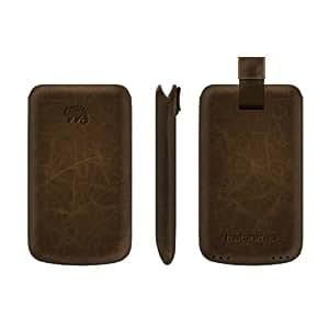Katinkas 400310 Premium Leather Case for Nokia N8 Creased - 1 Pack - Retail-Packaging - Dark Brown