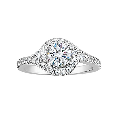 1 Ct. Tw. Forever Ideal Diamond Engagement Ring In 14K White Gold (Size 7.5)