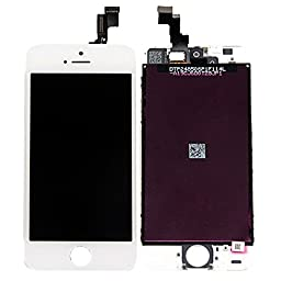 White Retina LCD Touch Screen Digitizer Glass Replacement Full Assembly for iPhone 5S