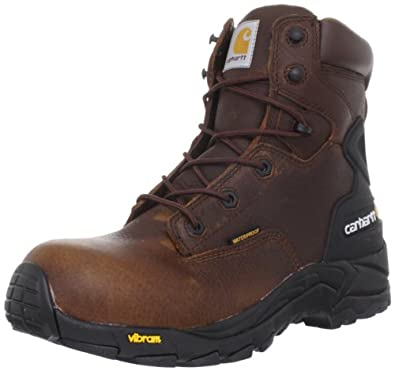Carhartt Men's CMH6310 6 BLCH ST Work Boot,Brown Pebble,8 W US