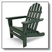 Classic Recycled Plastic Adirondack Chair Green