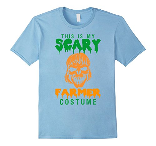 [This Is My Scary Farmer Costume Halloween T-Shirt - Male Medium - Baby Blue] (Baby Farmer Halloween Costume)