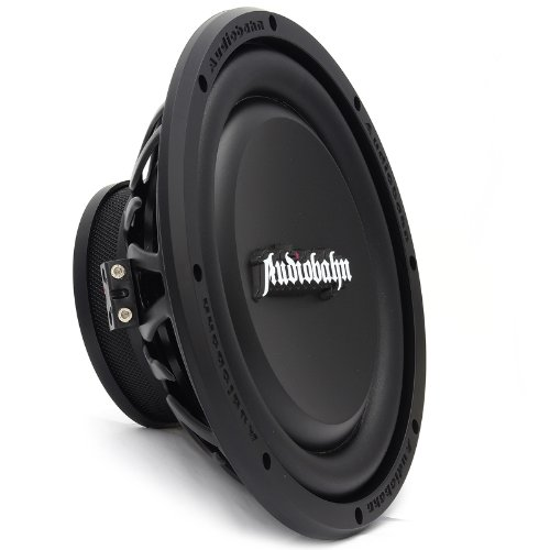 Audiobahn Amw100H 10-Inch Shallow-Mount Dual 4 Ohm Murdered Out Series Subwoofer