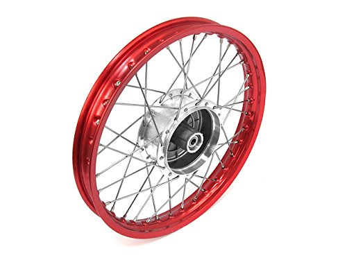 Roue-rayons-Jante-en-rouge-rayons-en-acier-inoxydable-et-moyeu-Tuning-16-tous-les-types-de-Moped