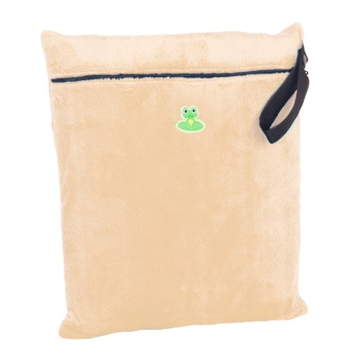 GO-FLUFF Minky Wet Bag (Beige)  13 x 14.75 inches