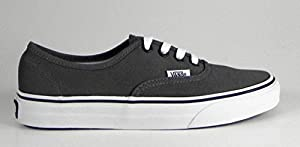 Vans Unisex Authentic Pewter/Black Sneaker - 12