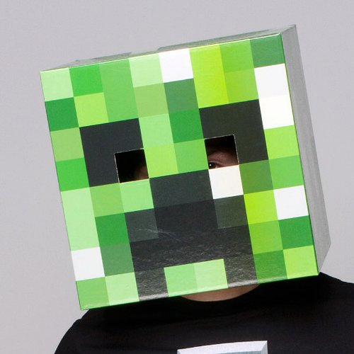 Minecraft Cartoncino Creeper Head J!NX Elmetti Maschere