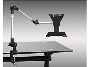 System-S Tischhalterung Halter Schwenkarm Flexibel Mount Ständer Stand mit Tischklemme Universal für Tablet PC