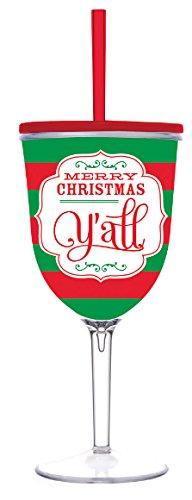 Christmas Acrylic Wine Glass