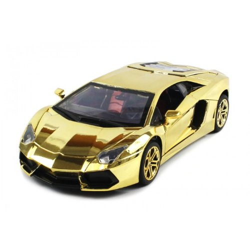 Electric Full Function 1:18 Metal Diecast Lamborghini Aventador RTR RC Car with Opening Hood & Doors (Gold Edition)