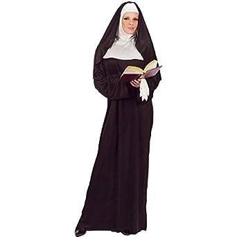FunWorld Mother Superior Nun, Black, One Size (Standard)
