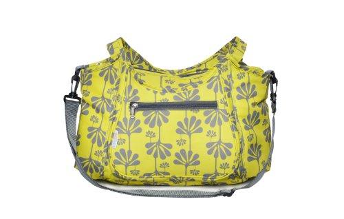 Kids Line Carryall Diaper Bag, Lime Ginko Print