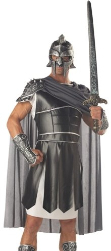 Adult Roman Gladiator Soldier Mens Halloween Costume M