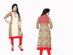 RR Fashion Women's Cotton KURTI (RRF3020_MULTICOLOUR)