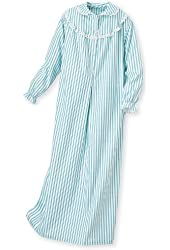 National Women's Striped Flannel Gown