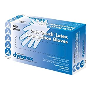 Safetouch Powder Free Latex Exam Gloves, Non-Sterile, Medium - 100/Box