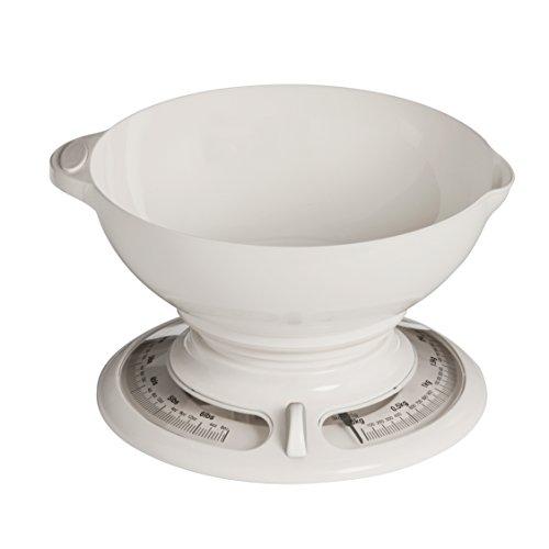 Premier Housewares Balance de cuisine ronde avec bol Blanc 3 kg