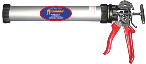 Newborn Aluminum Round Rod Caulk Gun with Comfort Grip, 20oz Sausage/20oz Bulk, 26:1 Thrust Ratio