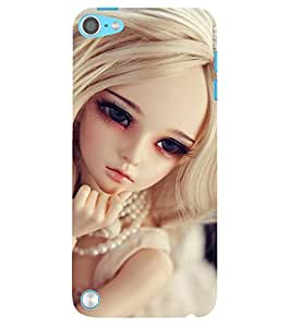 Evaluze attractive girl Printed Back Case Cover for APPLE IPOD TOUCH 5