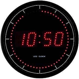 lunartec horloge murale radio pilotee led rouge. Black Bedroom Furniture Sets. Home Design Ideas