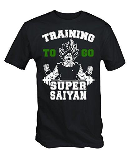 Black Training to Go Super Saiyan T Shirt