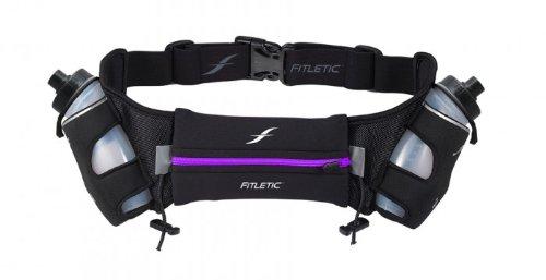 iFitness Neoprene Hydration Belt 16 oz (Purple Zip)