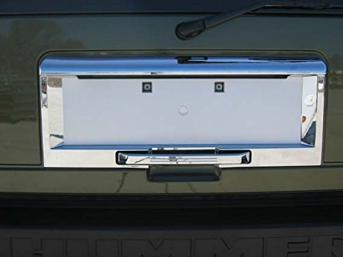 Hummer H2 Chrome Rear License Plate Frame Cover and Handle Cover: Fits the 2003, 2004, 2005 Hummer H2 (Hummer H2 License Plate Frame compare prices)