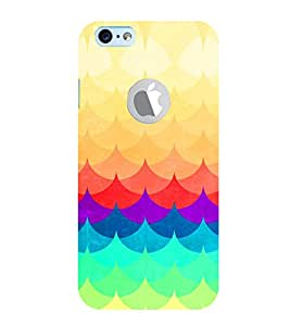 PRINTVISA Abstract Colourful Pattern Case Cover for New Iphone 6 ( With Logo)