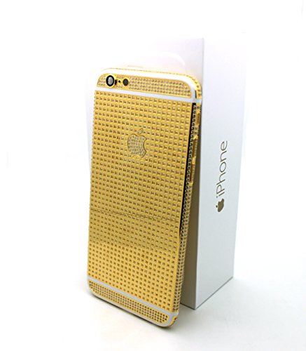 iColorLCD discount duty free Apple iPphone 6 - 64gb Gold Plated 24k with Swarovski Crystals Fully covered / Gold and White/ Verizon - Factory Unlocked/ International/ SIM Free