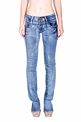 VIRGIN ONLY Women's Slim Bootcut Jeans (Light Blue, Size 7) (Light Blue Strech Jeans compare prices)