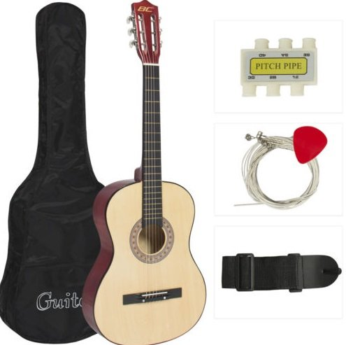 new-beginners-acoustic-guitar-with-guitar-case-strap-tuner-and-pick-natural