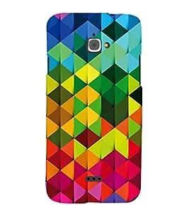 EPICCASE Colorful Pattern Mobile Back Case Cover For InFocus M350 (Designer Case)