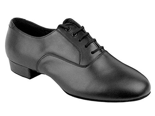 Go Go Dance Shoes Men's Black Leather Ballroom Shoes (Go Go Dance Shoes compare prices)