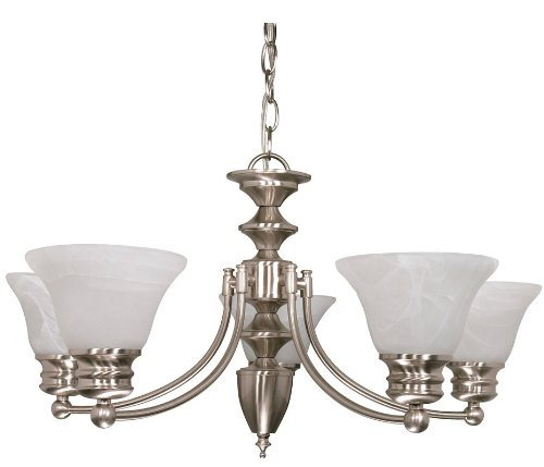 Lovely Nuvo Empire Light Chandelier with Alabaster Glass