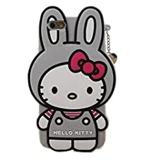 buy Hello Kitty Case For Iphone 6 Plus/6S Plus,Modefan Fashion 3D Cartoon Rabbit Hello Kitty Cat Soft Silicone Case Skin Protective Cover For Apple Iphone 6S Plus / 6 Plus (5.5 Inch) -Gray