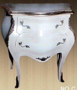 Barroco en el pecho de cajones pequeño rococó antiguo estilo Luis XV MoCoC07542