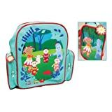In The Night Garden Backpack, Side Pockets With Pictures, Flower Tag On Zip,blueby Trade Mark Collections