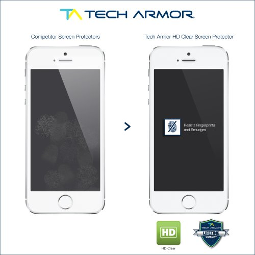 Tech Armor Apple iPhone 5/5c/5s High Defintion  Clear Screen