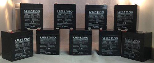 New Casil Ca1240 12V 4Ah First Alert Adt Alarm System Upgrade Battery - 9 Pack
